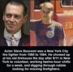 Actor Steve Buscemi Was A New York City Fire