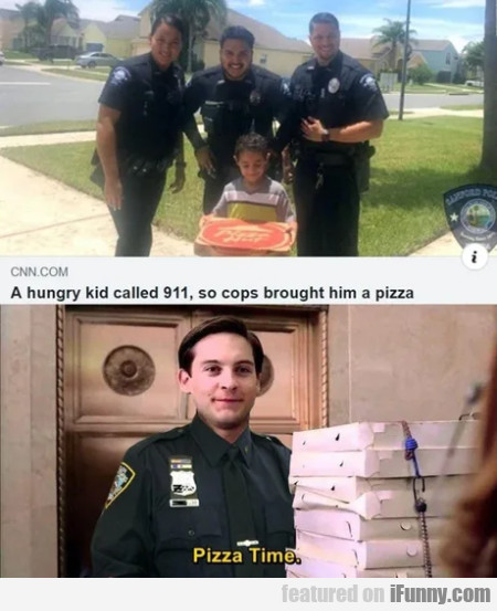 A Hungry Kid Called 911, So Cops Brought Him...