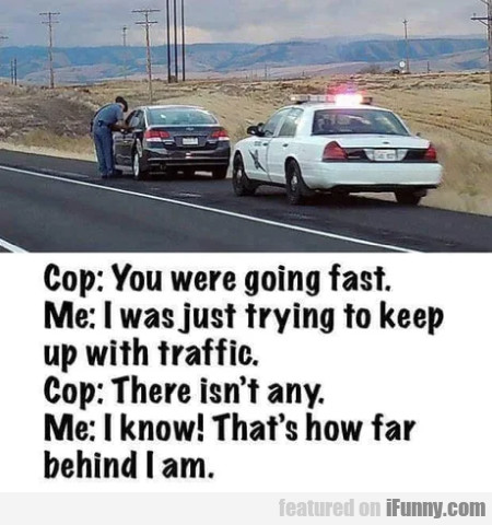 Cop - You Were Going Fast - Me - I Was Just Trying