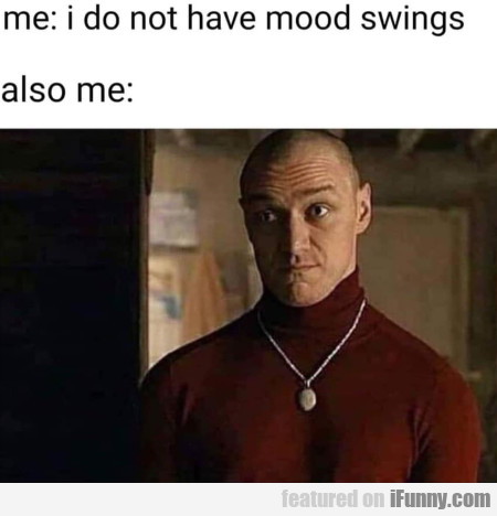 Me - I Do Not Have Mood Swings - Also Me
