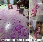 Practicing Their Painting Skills