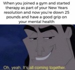 When You Joined A Gym And Started Therapy...