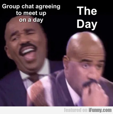 Group chat agreeing to meet up on a day
