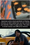 Japanese Police Shoot Paintballs At Fleeing
