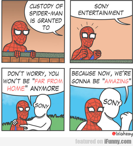 Custody Of Spiderman Is Granted To Sony...