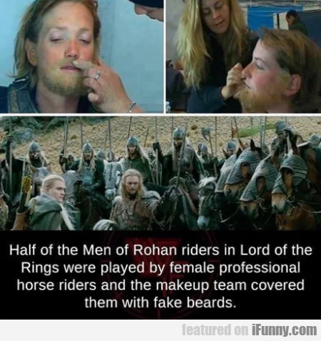 Half Of The Men Of Rohan Riders In Lord Of...