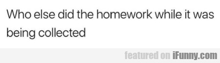 Who else did the homework...
