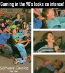 Gaming In The 90's Looks So Intense