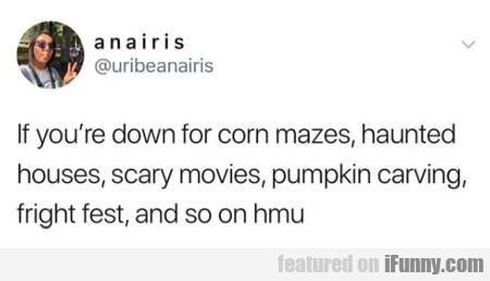 If You're Down For Corn Mazes