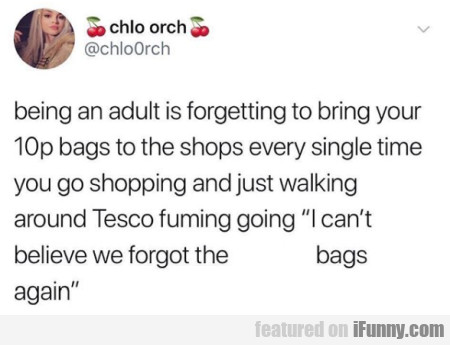 Being An Adult Is Forgetting To Bring Your 10p
