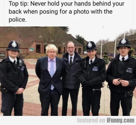 Top Tip - Never Hold Your Hands Behind Your Back