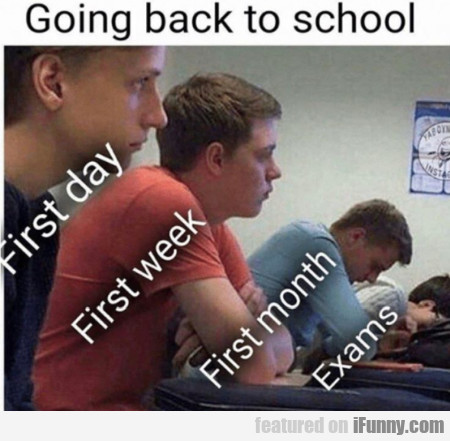 Going back to school - First day - First week...