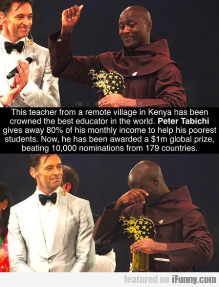 This teacher from a remote village in Kenya has...