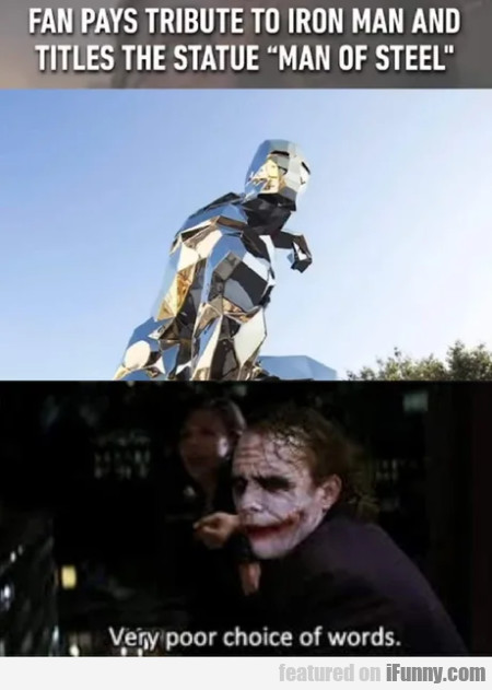 Fan pays tribute to iron man and titles the...