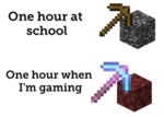 One Hour At School - One Hour When I'm Gaming
