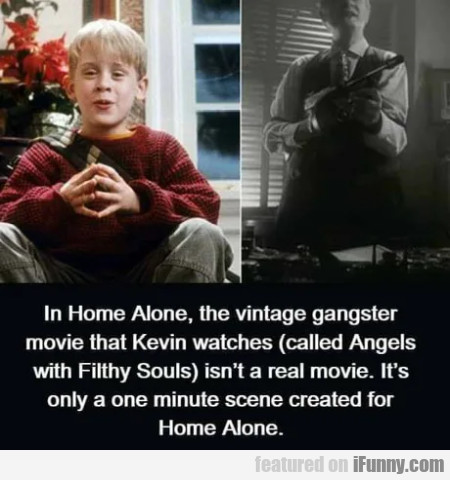 In Home Alone, the vintage gangster movie that...