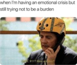 When I'm Having An Emotional Crisis But Still...
