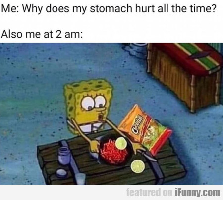 Me - Why Does My Stomach Hurt All The Time