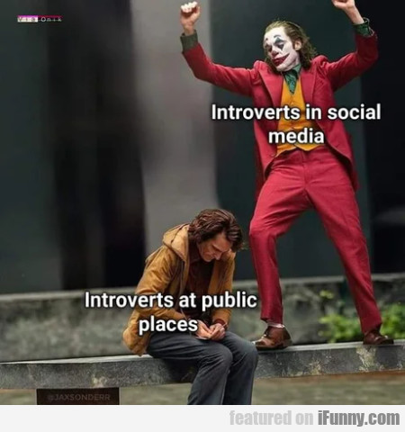 Introverts In Social Media - Introverts At Public