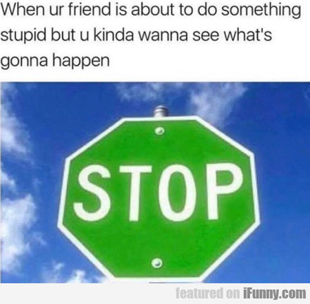When Ur Friend Is About To Do Something Stupid But