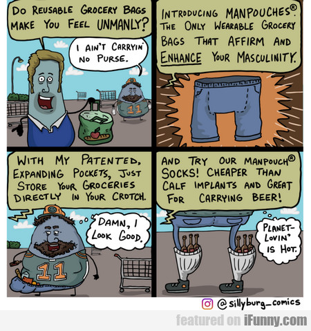 Do Reusable Grocery Bags Make You Feel Unmanly?