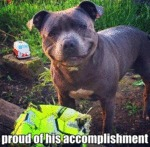 Proud Of His Accomplishment