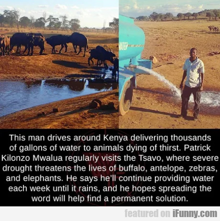 This man drives around Kenya delivering thousands