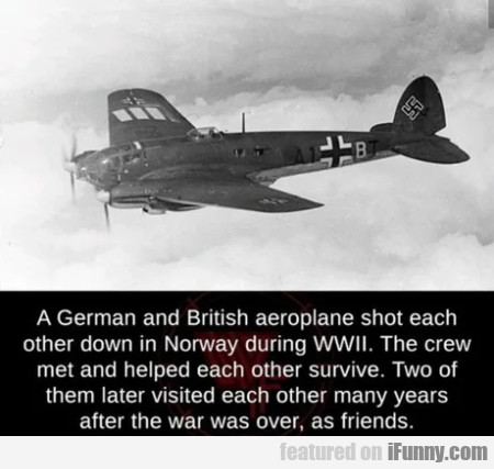 A German And British Aeroplane Shot Each Other