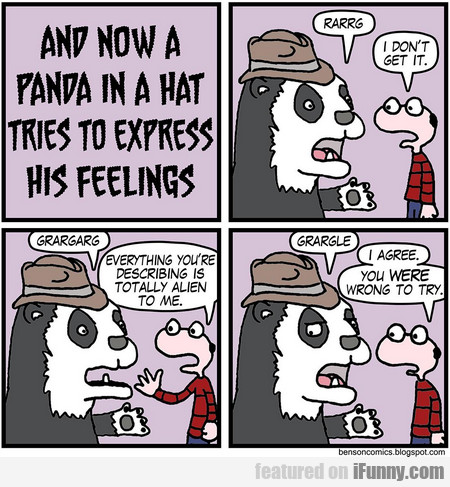 And Now A Panda In A Hat Tries To Express...