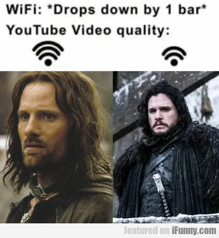 Wifi - drops down by 1 bar - Youtube video quality