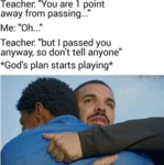 Teacher - You Are 1 Point Away From Passing