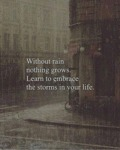 Without Rain Nothing Grows. Learn To Embrace