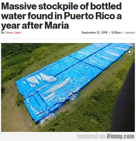 Massive Stockpile Of Bottled Water Found In...